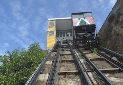 The oldest funicular line in Valparaiso- Conception Funicular