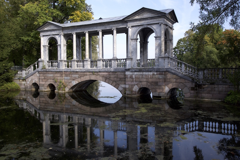 Marble Bridge with granite base