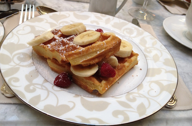 The delicious waffles