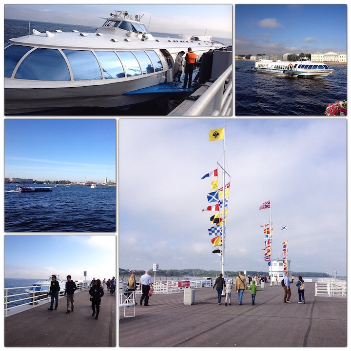 The Hydrofoil and Peterhoff Pier