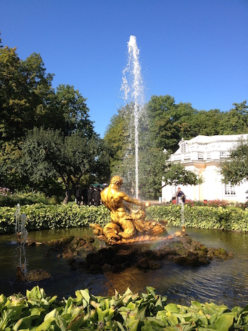 Triton and the seamonster (The Orangery Fountain)