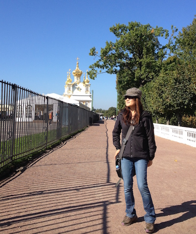 Behind me is the Gothic Chapel