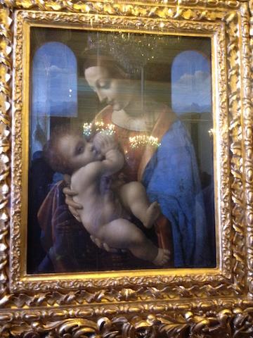 Leonardo da Vinci 1490s. Madonna and Child (Madonna Litta)