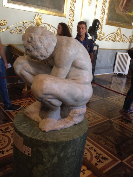 Crouching Boy, the only work by Michelangelo at The Hermitage.