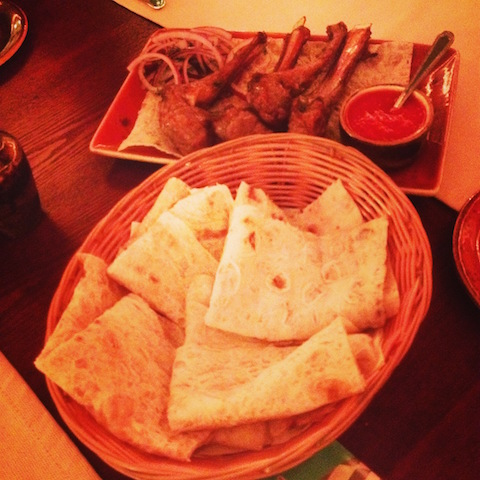 Armenian pancakes and barbecue lamb in Moscow