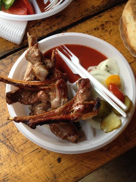 Barbecue lamb from Izmailova Flea Market