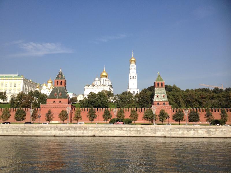 The Kremlin from Bersenevskaya Embankment.