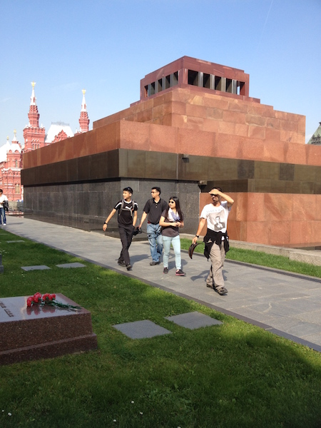 Outside Lenin's Mausoleum