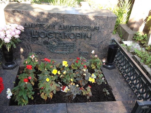 Dmitri Shostakovich's tomb