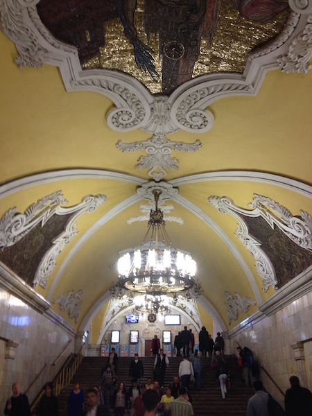 The many steps to take in metro stations including these at Komsomolskaya metro station
