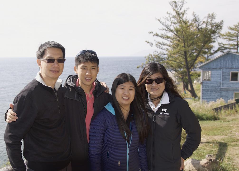 Family pic at Lake Baikal