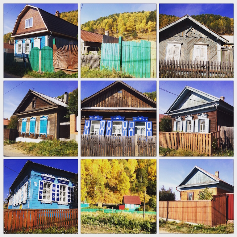 Old Listyanka wooden homes.