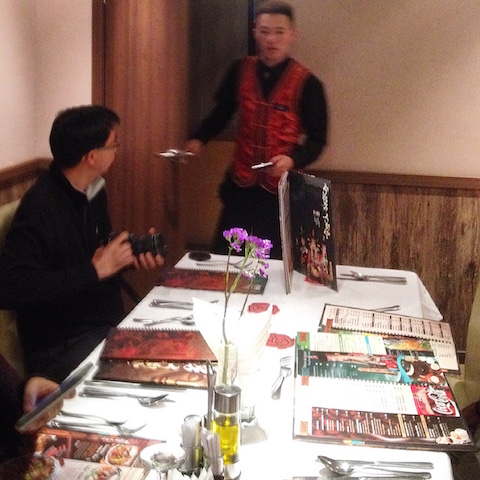 Personal waiter in a private room at the Modern Nomads Restaurant