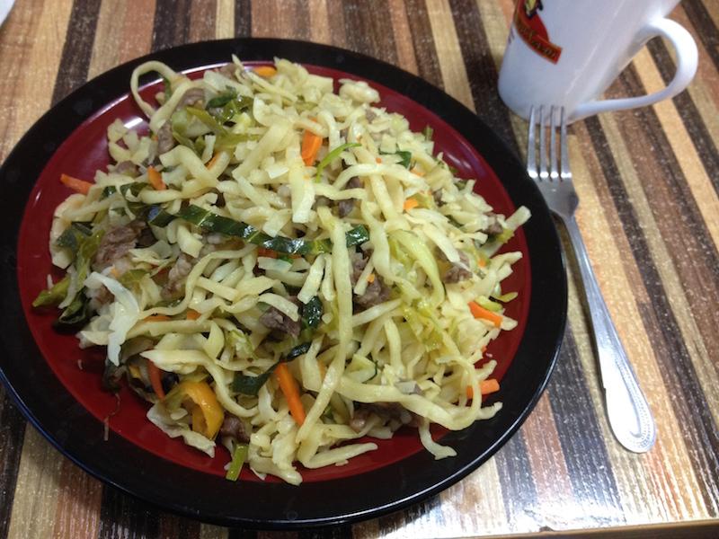 tsuivan - mongolian noodles