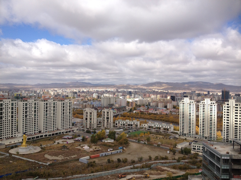 View of Ulan Bator from Zaisan Mountain