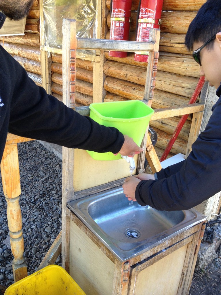 Hand washing before lunch