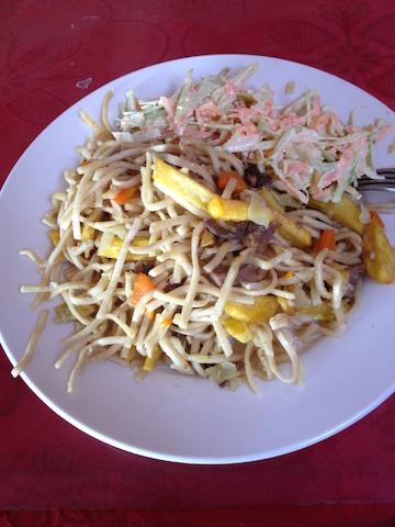 Mongolian Tsuivan noodles
