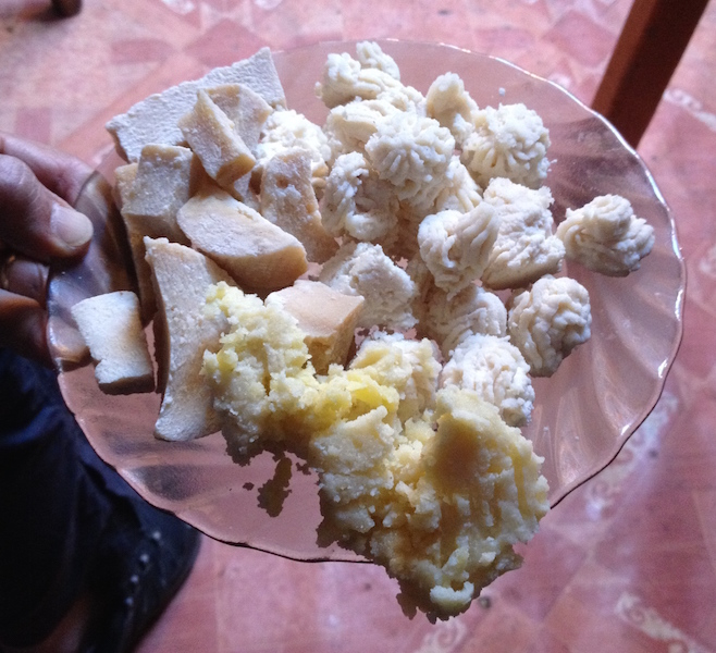 Mongolian homemade cheese and butter