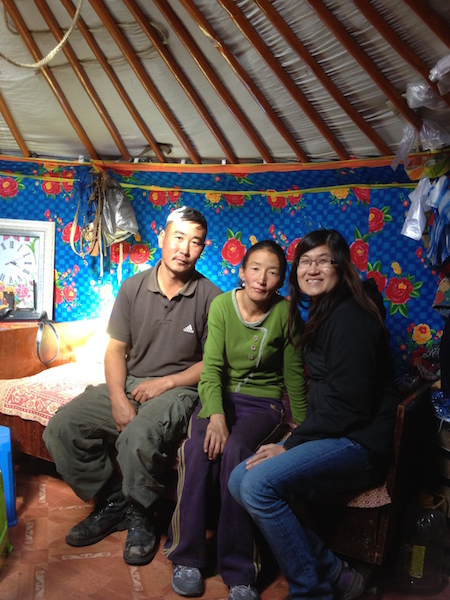 The nomadic couple (host and his wife) and me