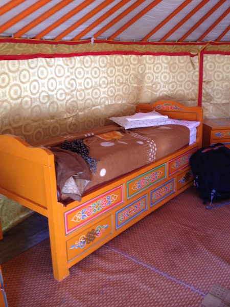 My bed in the ger