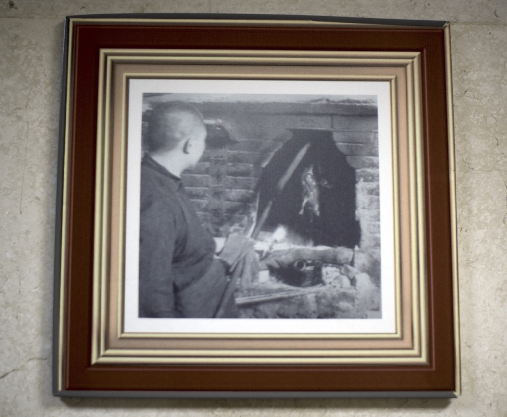 Old photo on Quanjude Restaurant's wall