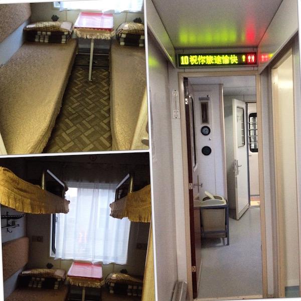 Inside train #24 from Ulaan Bataar to Beijing