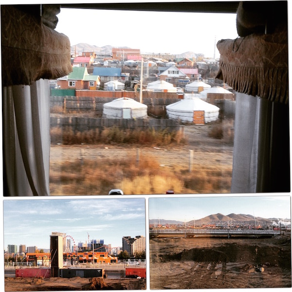 Train leaving Ulaan Bataar