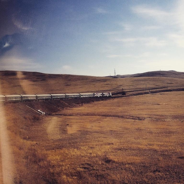 Trans Mongolian through the Gobii desert
