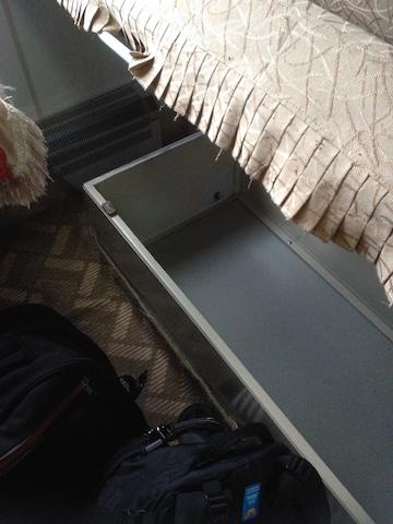 For backpacks inside the cabin
