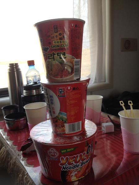 Instant noodles purchased in Ulaan Bataar