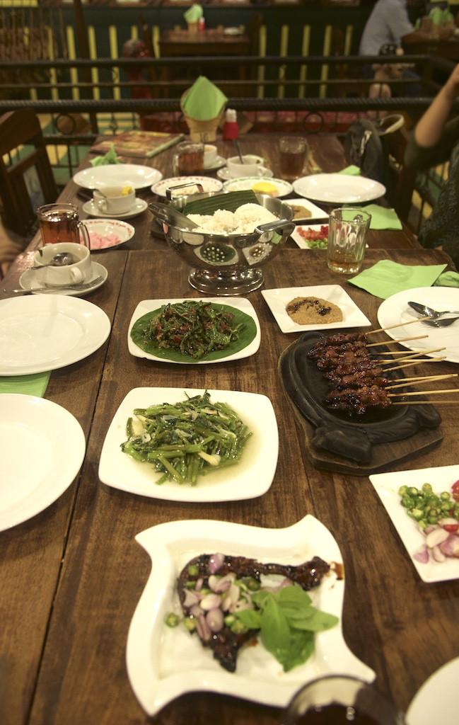Sundanese dinner in Bandung