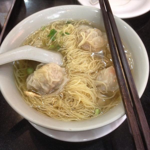 wonton noodles in Hong Kong