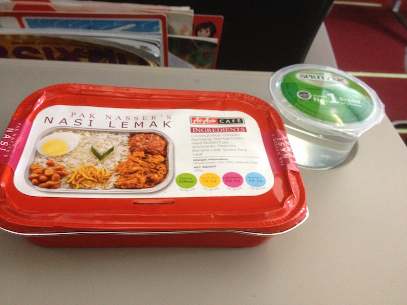 Meals on board Air Asia
