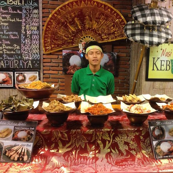 Balinese nasi campur at
