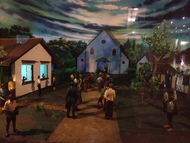 One of the dioramas at the museum