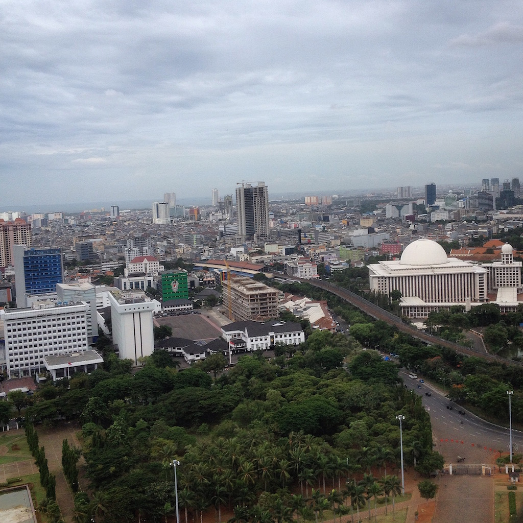 View of Jakarta from MONAS