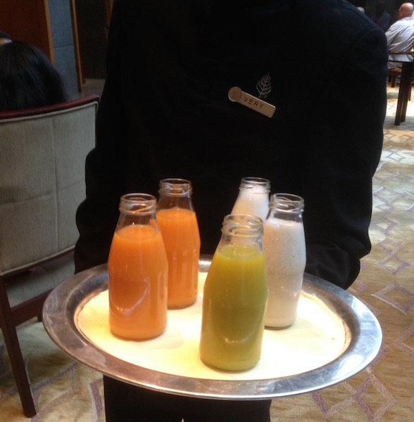 Fruit juices served at the Four Seasons Jakarta