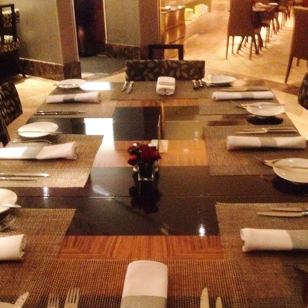 Table for 8 at Hotel Mulia