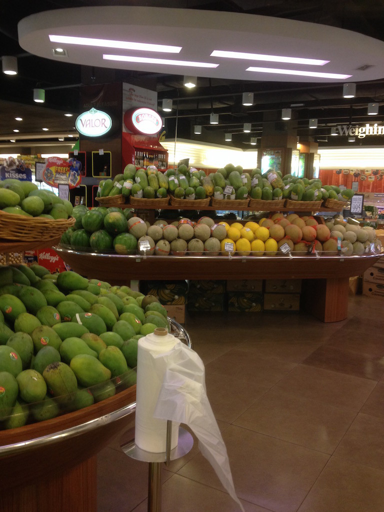 Fruits including mangoes in one of the supermarkets in Jakarta