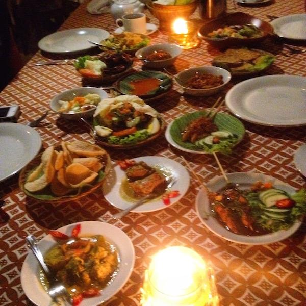Indonesian Rijsttafel in Yogjakarta
