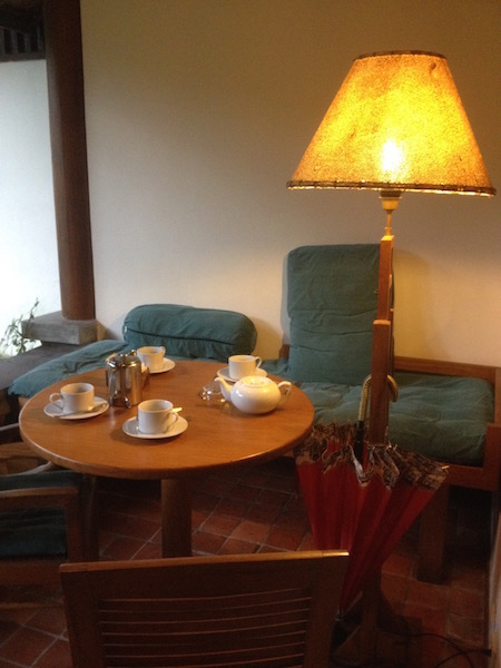 Complimentary afternoon tea and coffee at the porch