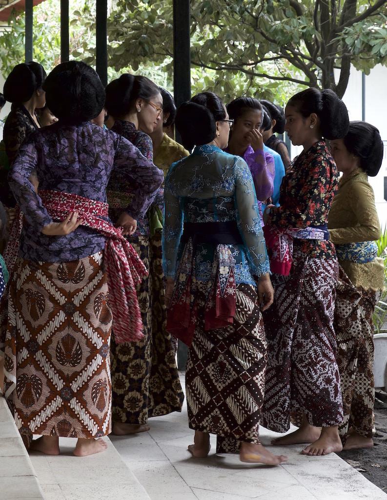 Ladies in beautiful batik at the Kraton