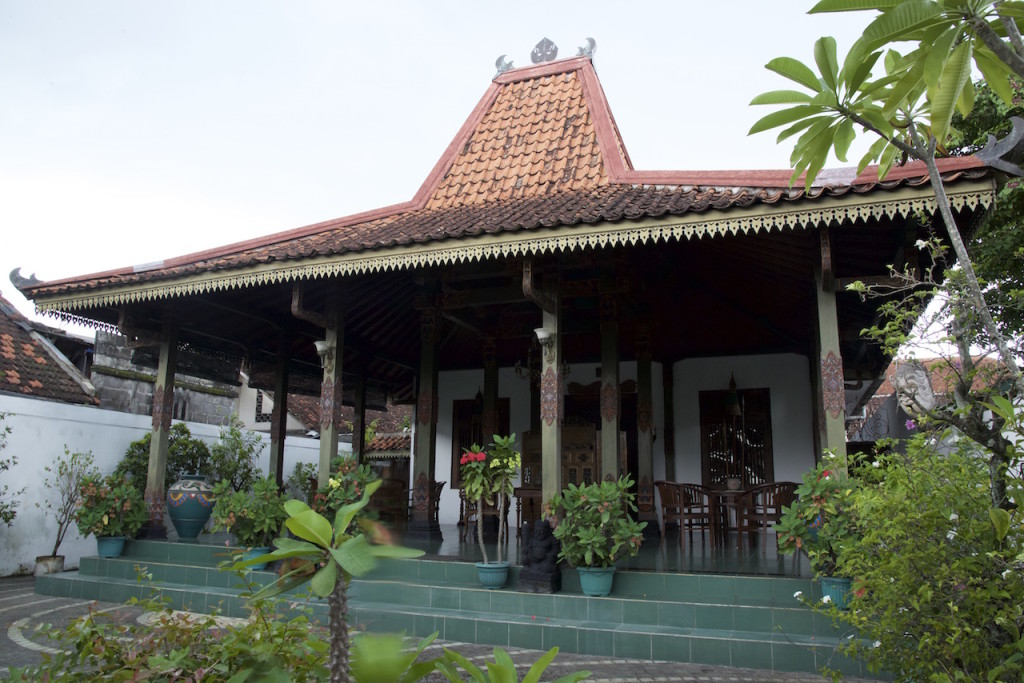 A house in Taman Sari neighborhood with Javanese architecture