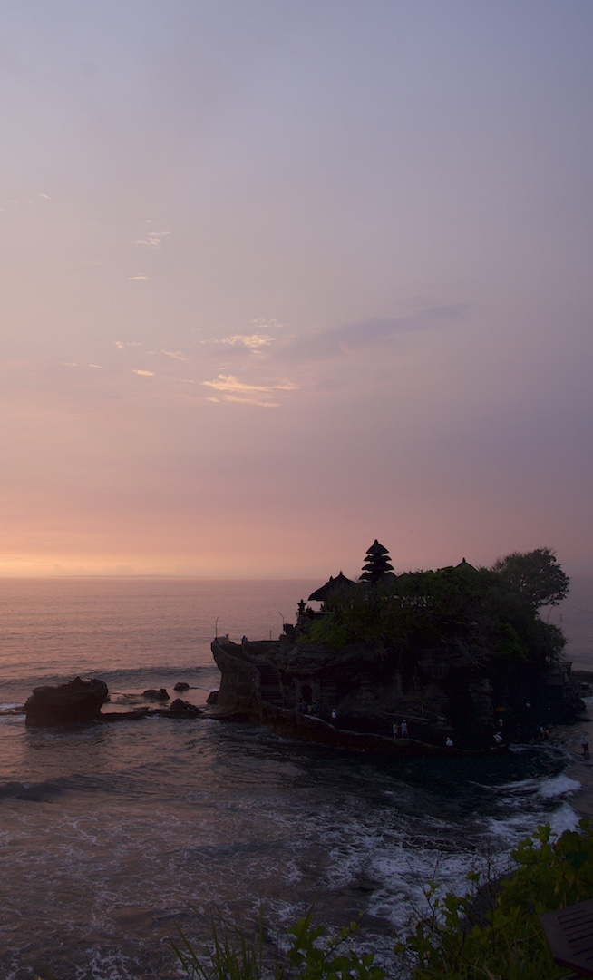 Sunset at the Sea Temple of Tanah Lot Bali
