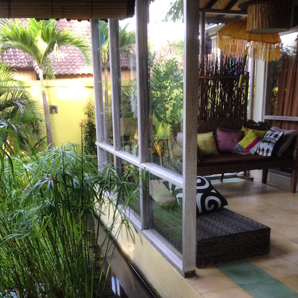 Part of the sitting area at the villa