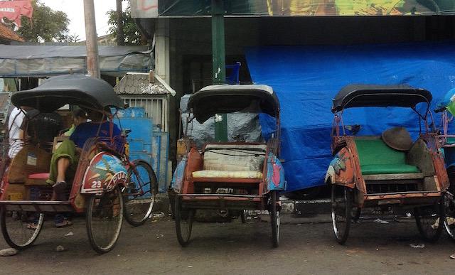 Becak (Rickshaws)