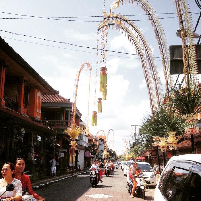 Penjor during Galungan in Bali