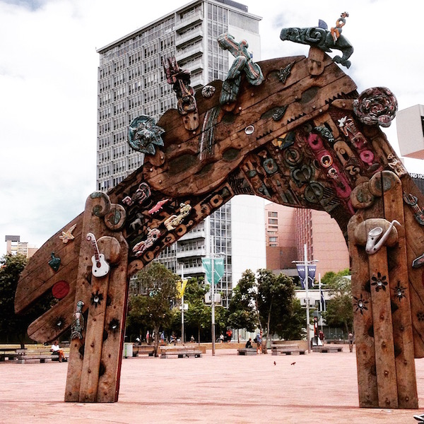 Visit Aotea Square in downtown Auckland. this waharoa is a 7 meter gateway like those found in a marae (Maori meeting house).