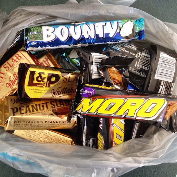 New Zealand sweets were a delight! (especially Bounty and L&p)