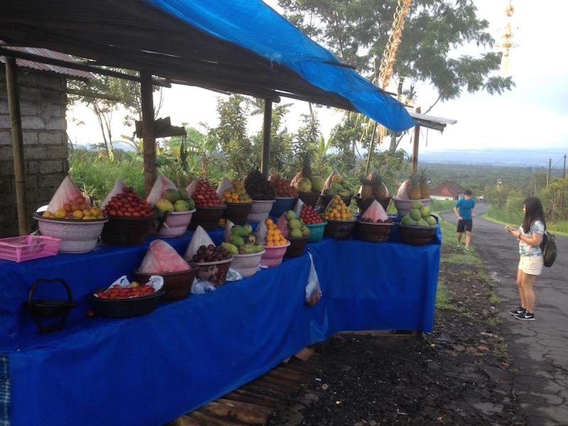 Fruit stall near Danau Batur